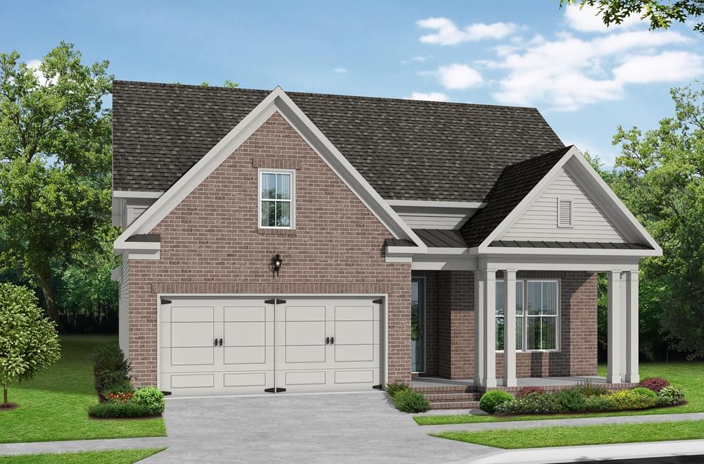 Elevation H. Suwanee, GA New Home