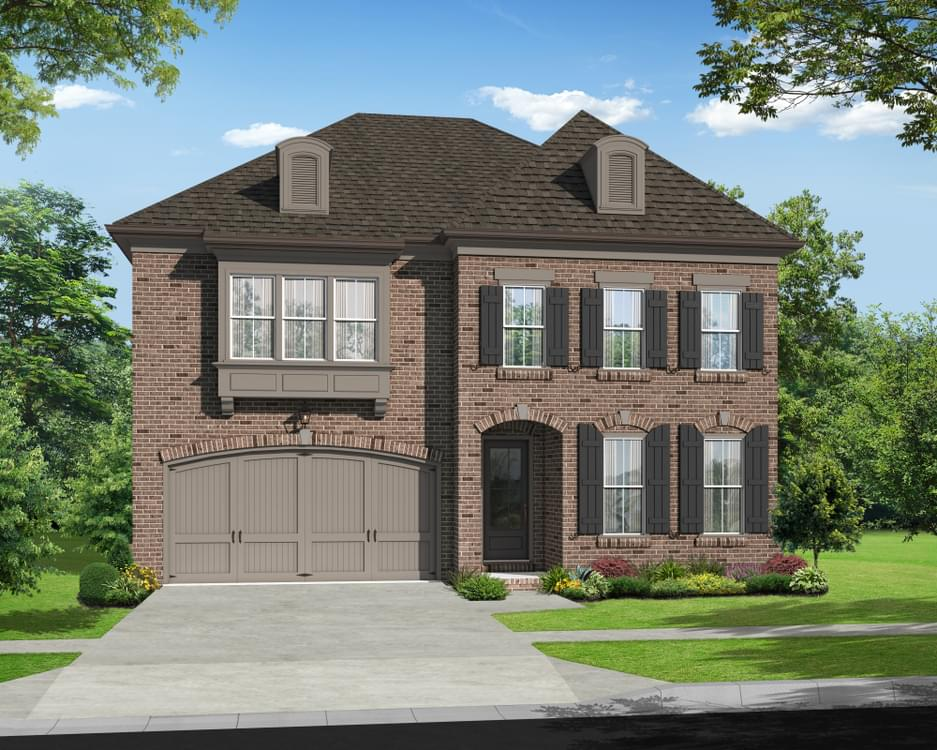 Elevation E. 3,472sf New Home in Johns Creek, GA