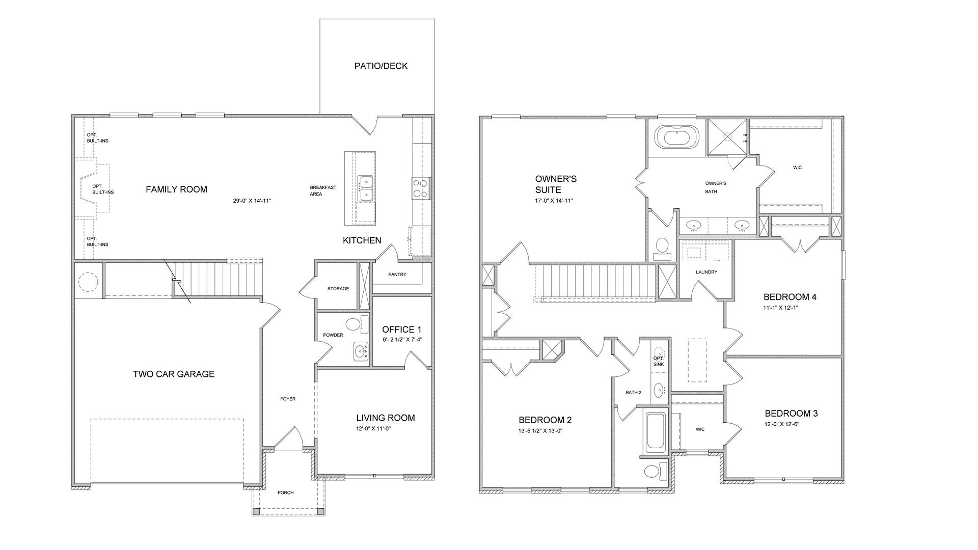 Floor Plans. 4br New Home in Suwanee, GA