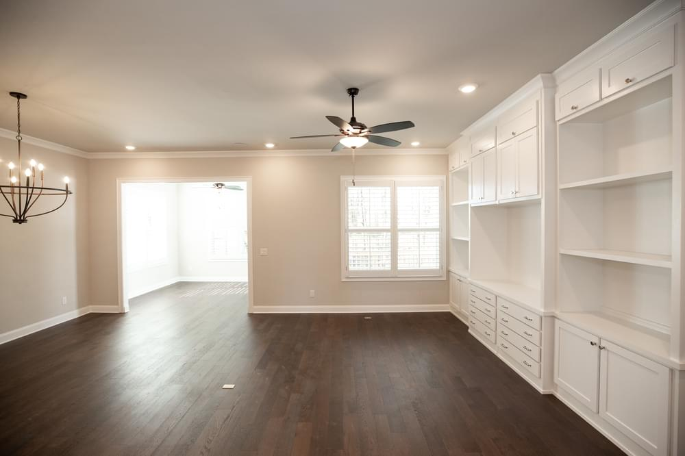 The Beaufort Home Design Living Room. 3br New Home in Canton, GA
