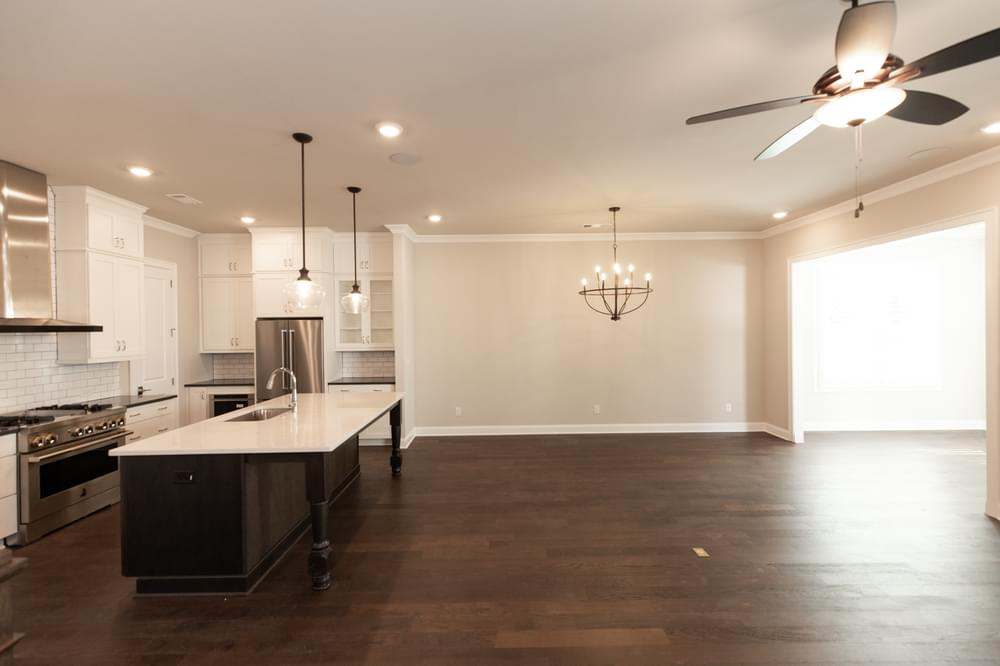 The Beaufort Home Design Living Room and Kitchen. Canton, GA New Home