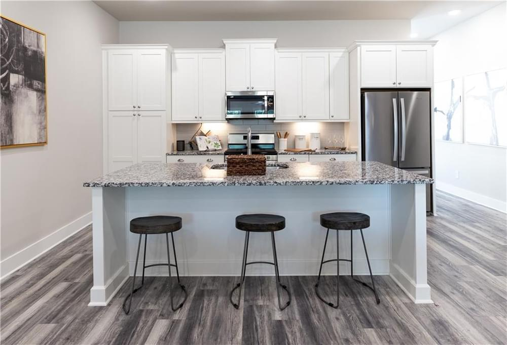 Kitchen and Island. Decatur, GA New Home
