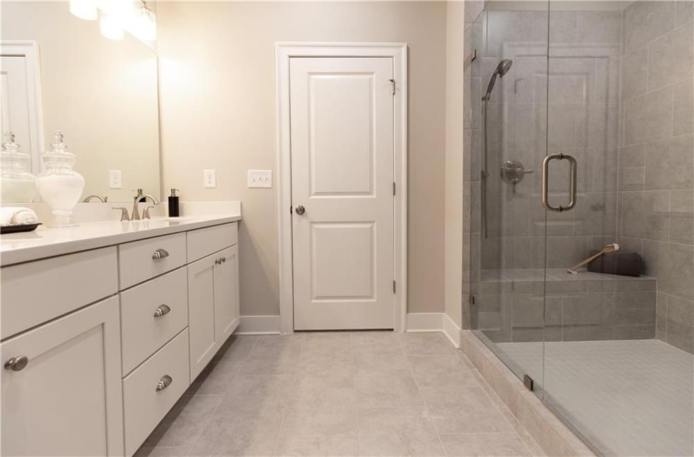 Master Bath Frameless Shower. Decatur, GA New Home