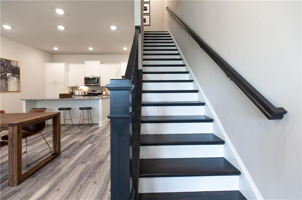 Stairs to 3rd Floor. New Home in Decatur, GA