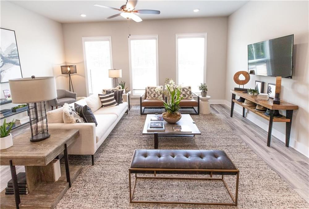 Living Room . Decatur, GA New Home