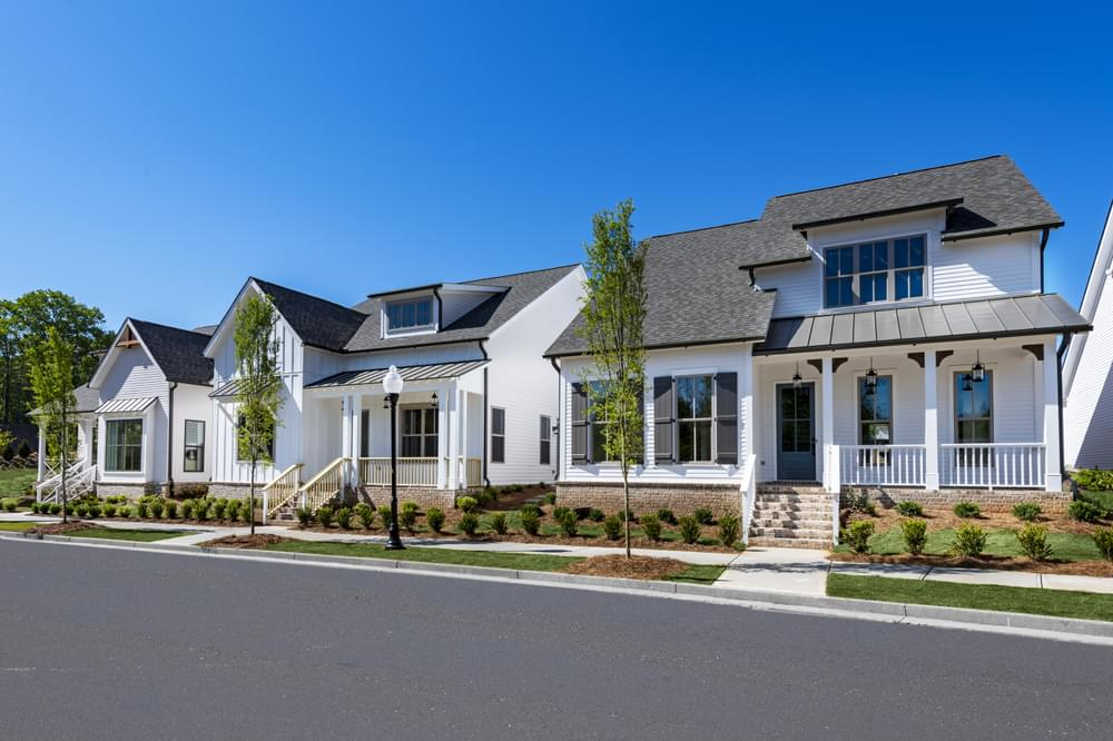 Harvest Park Streetscape. New Homes in Suwanee, GA