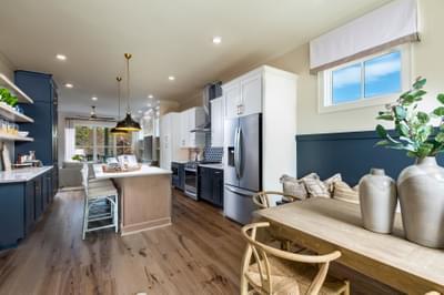 Harrison Model Home Kitchen and Breakfast Room. Harvest Park New Homes in Suwanee, GA