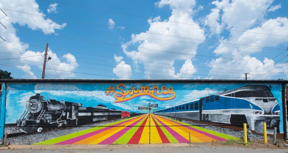 Suwanee Mural. Suwanee, GA New Homes