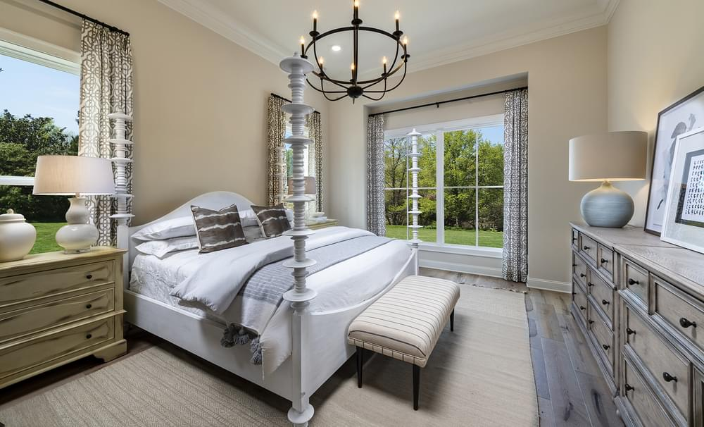 Harrison Model Home Owners Suite. Harvest Park New Homes in Suwanee, GA
