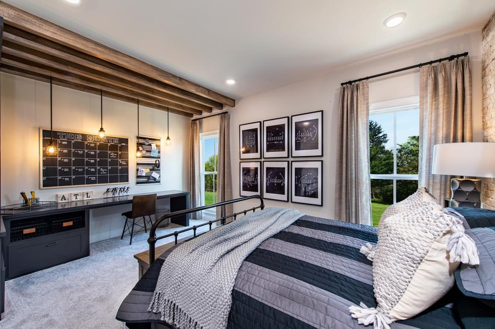 Harrison Model Home Guest Bedroom. Harvest Park New Homes in Suwanee, GA