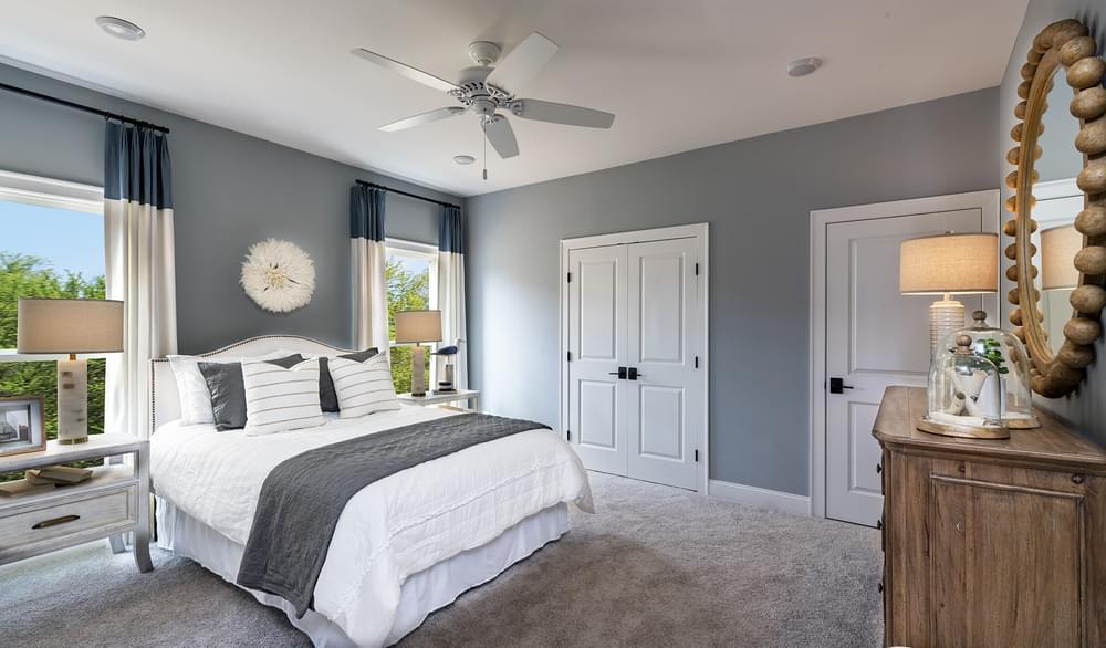 Harrison Model Home Secondary Bedroom. Harvest Park New Homes in Suwanee, GA