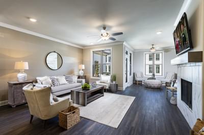 Garrett II Home Design Atlanta, GA New Home Family Rooms
