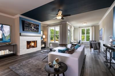 Glendale Home Design Atlanta, GA New Home Family Rooms
