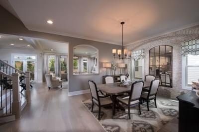 Mathews Home Design Atlanta, GA New Home Dining and Breakfast Rooms
