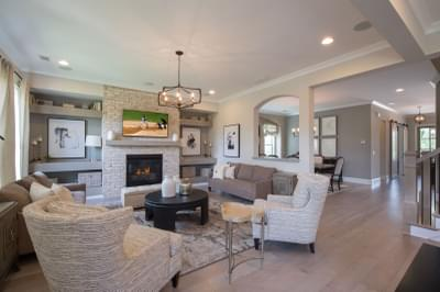 Mathews Home Design Atlanta, GA New Home Family Rooms