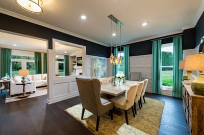 Montgomery Home Design Atlanta, GA New Home Dining and Breakfast Rooms