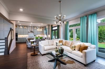 Montgomery Home Design Atlanta, GA New Home Family Rooms