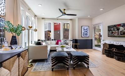 Courtland Home Design Atlanta, GA New Home Family Rooms