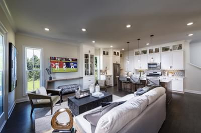 Pierce Home Design Atlanta, GA New Home Family Rooms