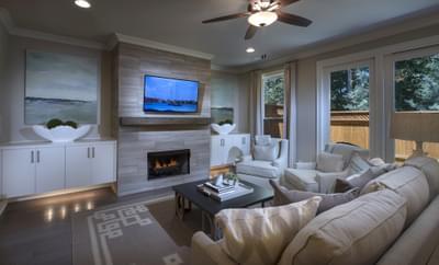 Braxton II Home Design Atlanta, GA New Home Family Rooms