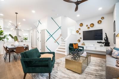 Glen Iris Home Design Atlanta, GA New Home Family Rooms