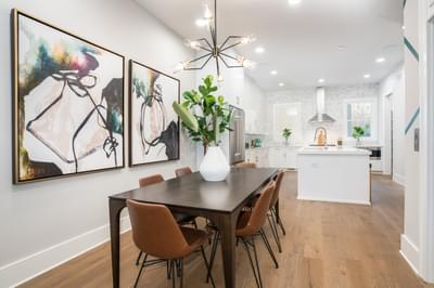 Glen Iris Home Design Atlanta, GA New Home Dining and Breakfast Rooms