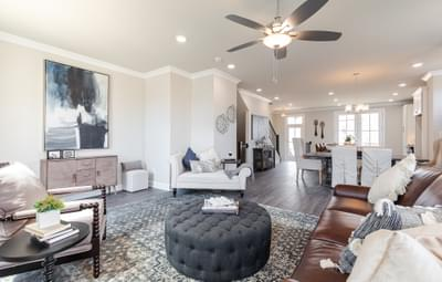 Graham Home Design Atlanta, GA New Home Family Rooms