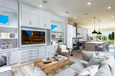 Harrison Home Design Atlanta, GA New Home Family Rooms