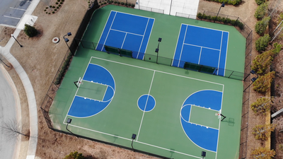 Bellmoore Park Tennis and Basketball Courts Atlanta, GA New Home Amenities & Outdoor Living