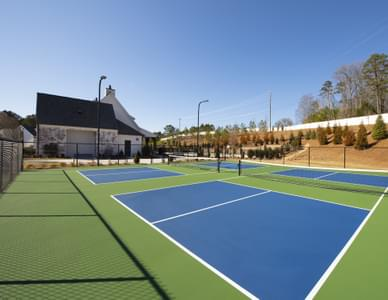 Idylwilde Clubhouse and Pickleball Courts Atlanta, GA New Home Amenities & Outdoor Living