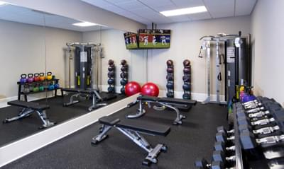 Bellmoore Park Fitness Room Atlanta, GA New Home Amenities & Outdoor Living