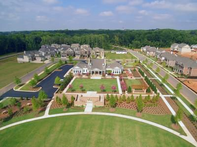 Bellmoore Park Clubhouse with Wedding Garden and Event Lawns Atlanta, GA New Home Amenities & Outdoor Living