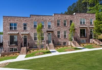Harvest Park Townhomes Atlanta, GA New Home Exteriors