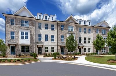 Glendale Rowes Townhomes Atlanta, GA New Home Exteriors