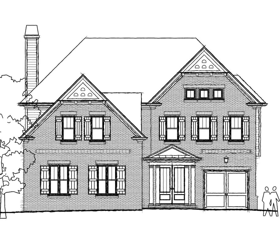 Elevation C. 4br New Home in Johns Creek, GA