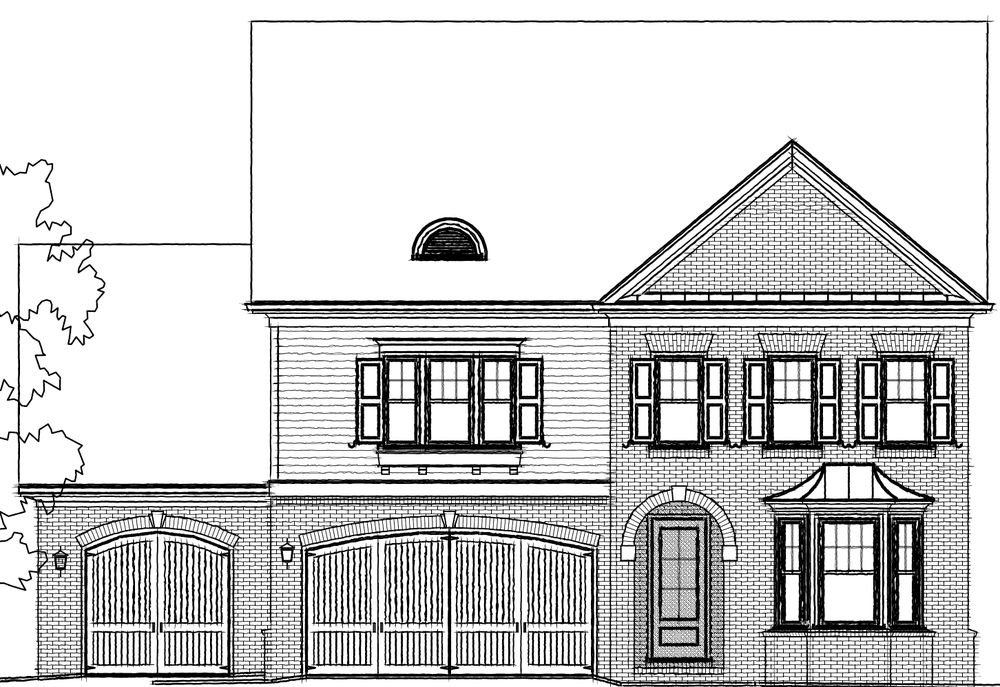 Elevation D. 3,765sf New Home in Johns Creek, GA