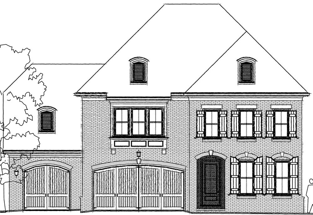 Elevation E. The Mathews New Home in Johns Creek, GA