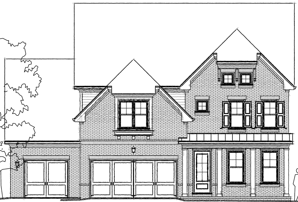 Elevation G. 4br New Home in Johns Creek, GA