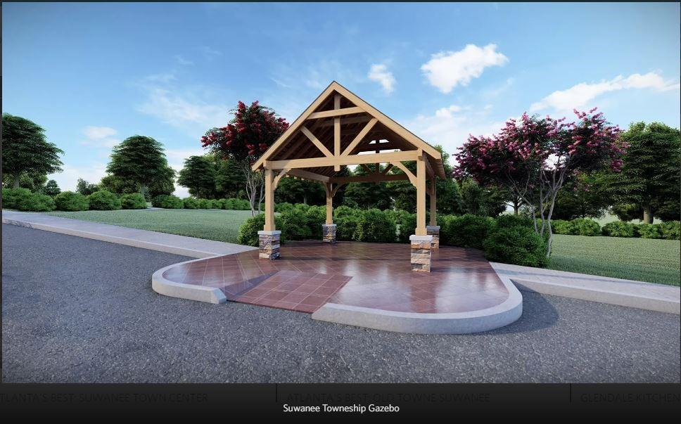 Rendering of Future amenity plan - To be built. 3br New Home in Suwanee, GA