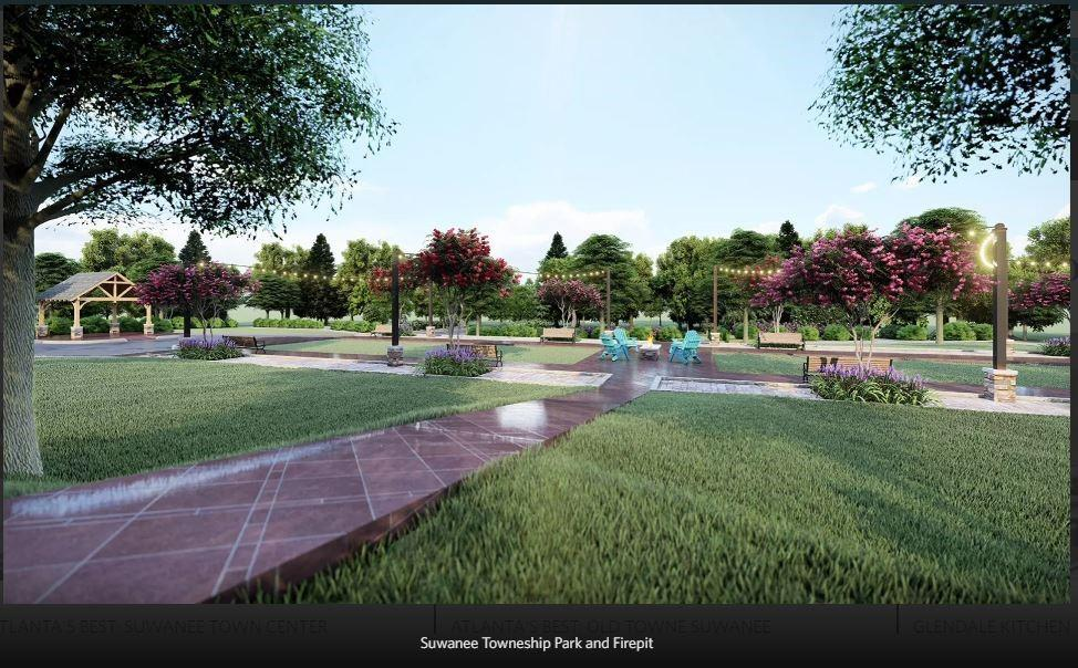 Rendering of Future amenity plan - To be built. Suwanee, GA New Home
