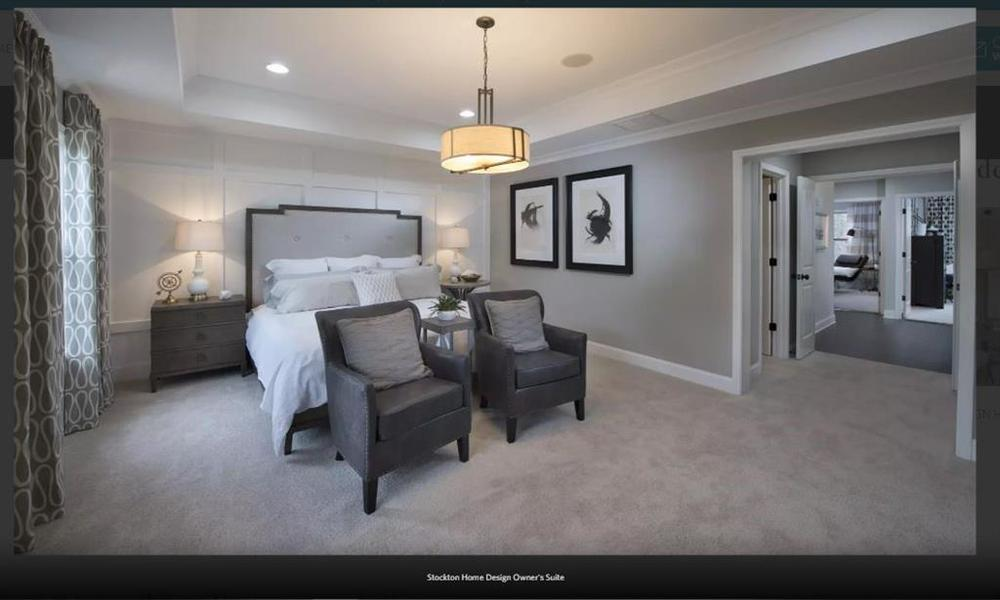 Pictures not of Actual Home But of a previously built Stockton plan - This hone is under . 2,030sf New Home in Suwanee, GA