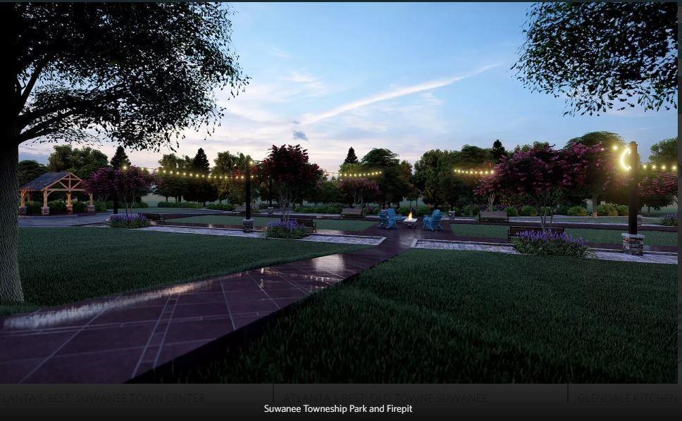 Future Amenity plan to be built - Rendering of Amenity Plan. 2,030sf New Home in Suwanee, GA