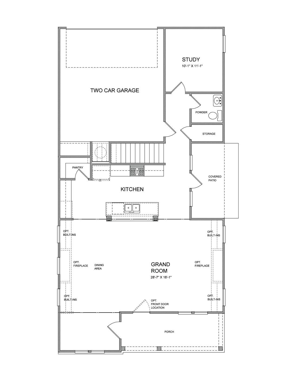 First Floor. 3br New Home in Suwanee, GA
