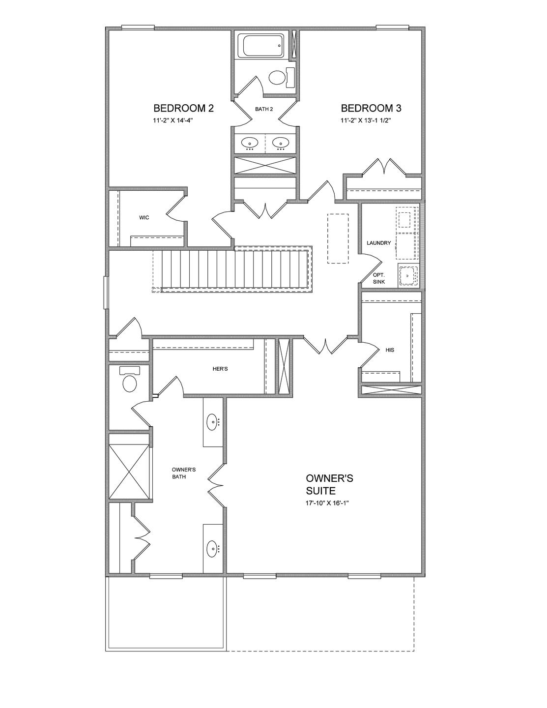 Second Floor. New Home in Suwanee, GA