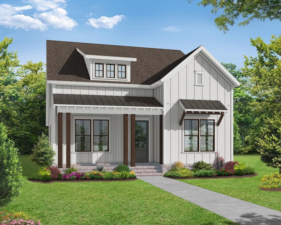 Elevation B. The Hampton II New Home in Canton, GA