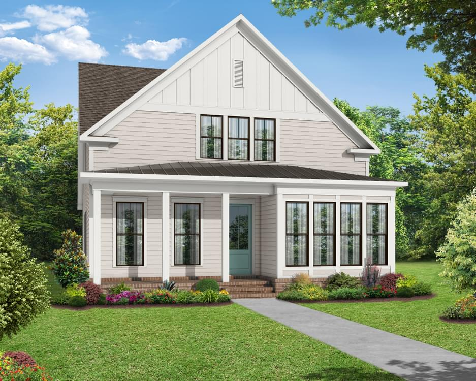 Elevation D. 2,388sf New Home in Canton, GA