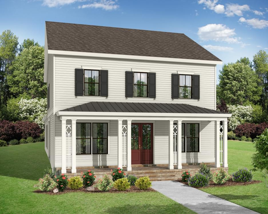 Elevation C. The Weatherby New Home in Canton, GA