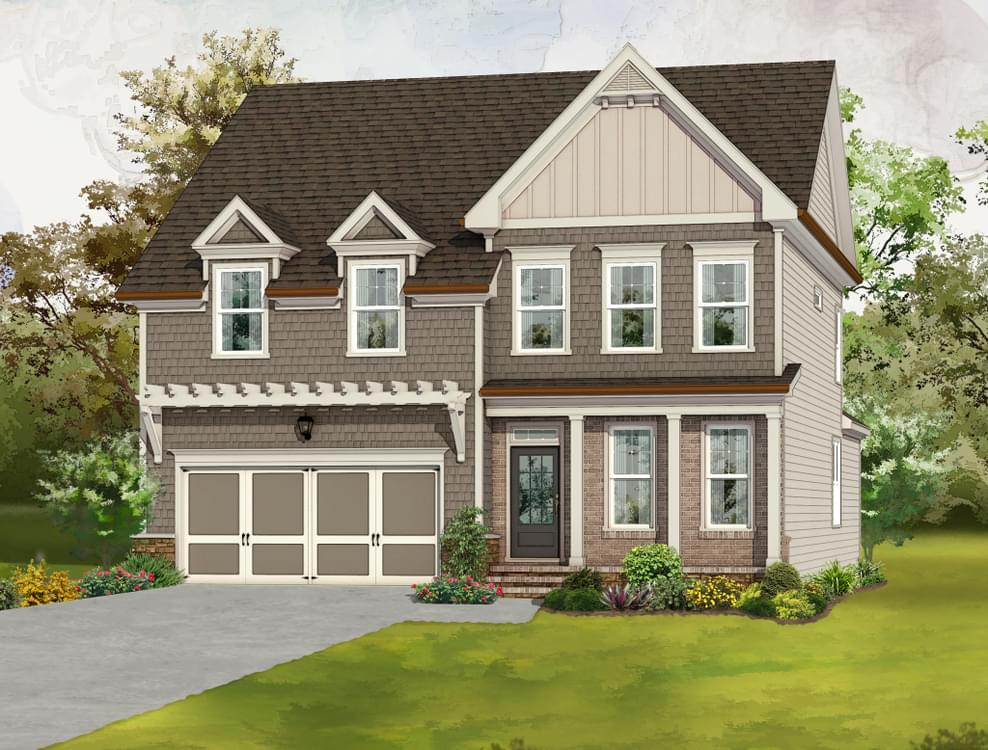 Elevation C. New Home in Canton, GA