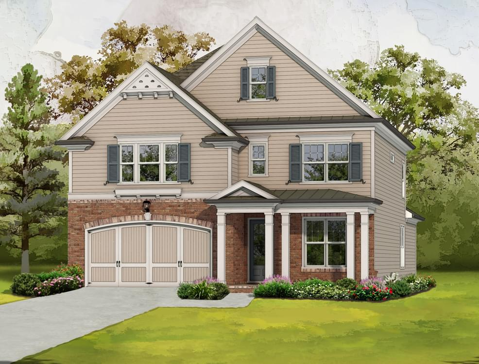 Elevation D. 2,997sf New Home in Canton, GA