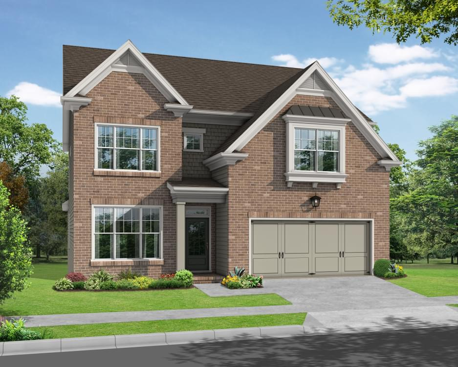 Elevation A. 2,997sf New Home in Canton, GA